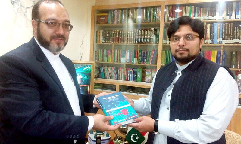 Director General Islamic Culture & Relations Organisations (ICRO) of Iran Hamed Malakooti calls on Dr Hussain Mohi-ud-Din Qadri