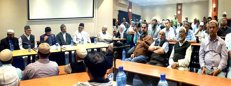 جنوبی افریقہ: ڈاکٹرحسن محی الدین قادری کی علماء و مشائخ کے ساتھ نشست