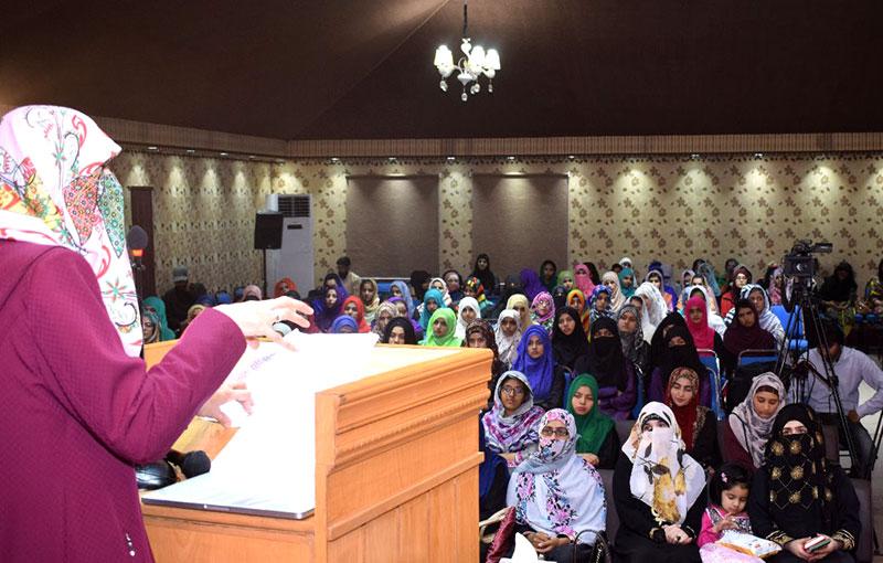 Dr Ghazala Hassan Qadri addresses seminar woman identity and university life
