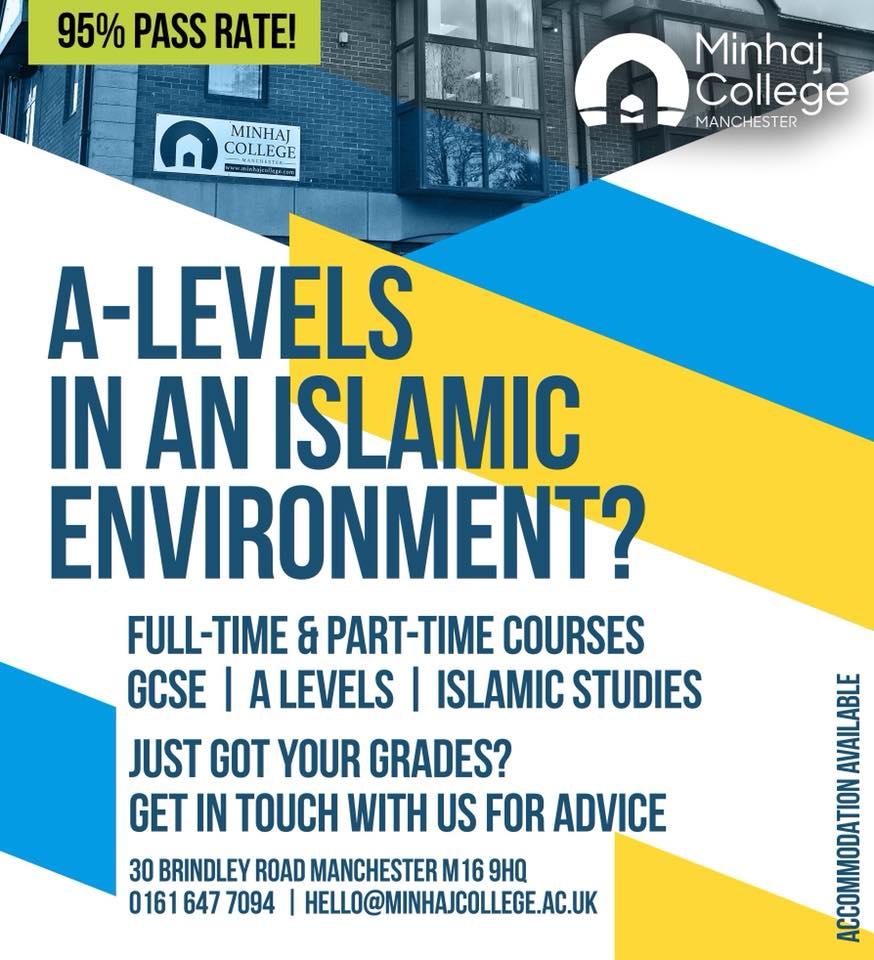 Admission Open - Minhaj College Manchester