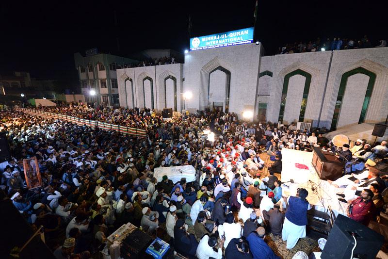 Dr-Tahir-ul-Qadri addresses Miraj-un-Nabi Conference 2019