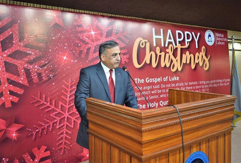 Dr. Sajid Mahmood Shahzad addresses Christmas Day Celebrations by Minhaj University Lahore