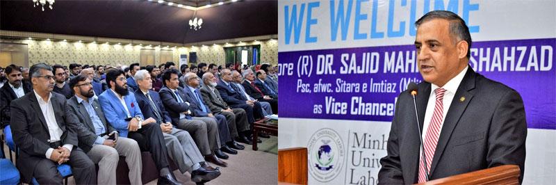 Commodore Dr Sajid Mahmood Shahzad takes over as new VC of Minhaj University Lahore