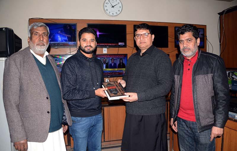 کرکٹر اظہر علی کی منہاج القرآن مرکز آمد
