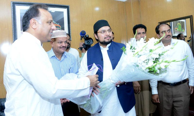 Director General Sports Punjab Nadeem Sarwar visits Itikaf City