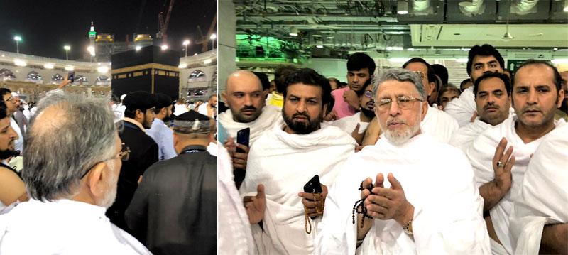 Dr Tahir ul Qadri performs Umrah