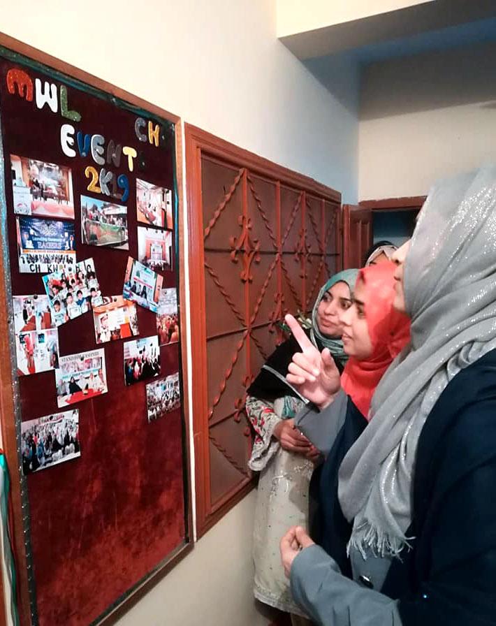 Miss. Sidra Karamat is inaugurating MWL Chakwal Office