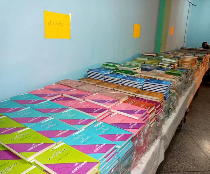 Dr Tahir ul Qadri book stall in Itikaf City Minhaj ul Quran