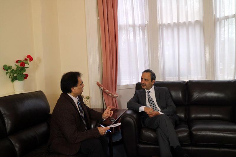 Waseem Butt calls on ambassador of pakistan in ireland