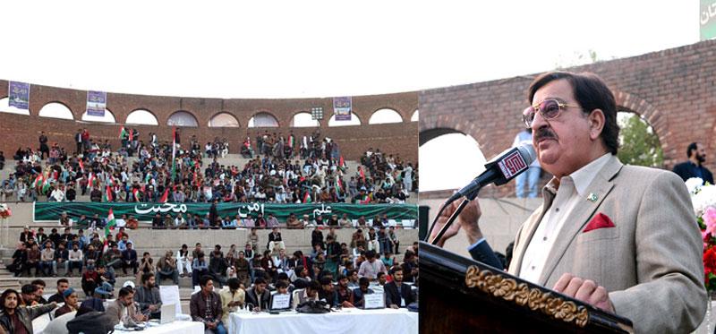 Khurram Nawaz Gandapur addresses National Students Convention