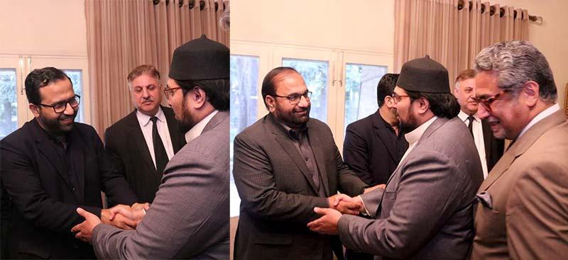 میاں عمران مسعود کی ڈاکٹر حسین محی الدین قادری سے ملاقات