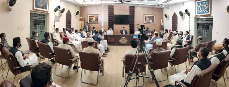 MQI Gujrat delegation calls on Dr Hassan Mohi-ud-Din Qadri