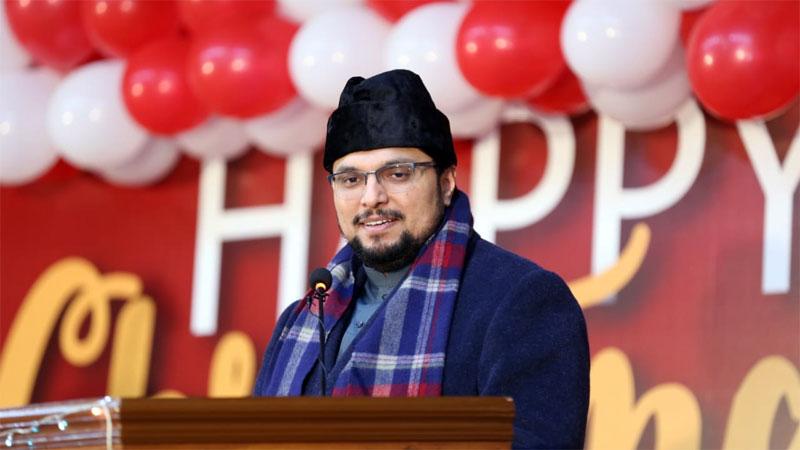 Dr Hussain Mohi ud Din Qadri addresses Christmas ceremony held at the Minhaj University Lahore