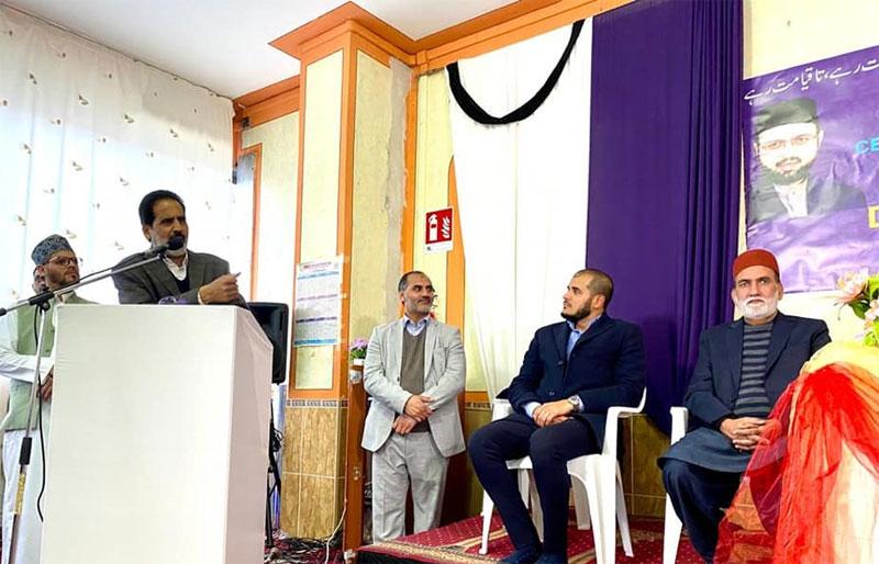 Dr Hassan Mohi-ud-Din Qadri addresses Quaid Day ceremony in Carpi