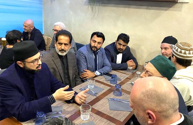 Dr Hassan Mohi-ud-Din Qadri meets representatives of an Italian Islamic organization