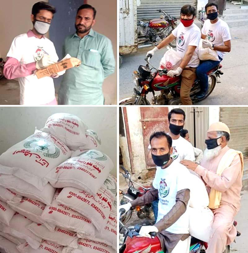 Minhaj ul Quran Youth League ration distribution