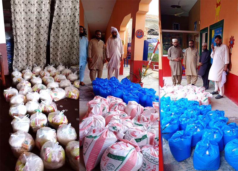 Minhaj Welfare Foundation distributes ration among families