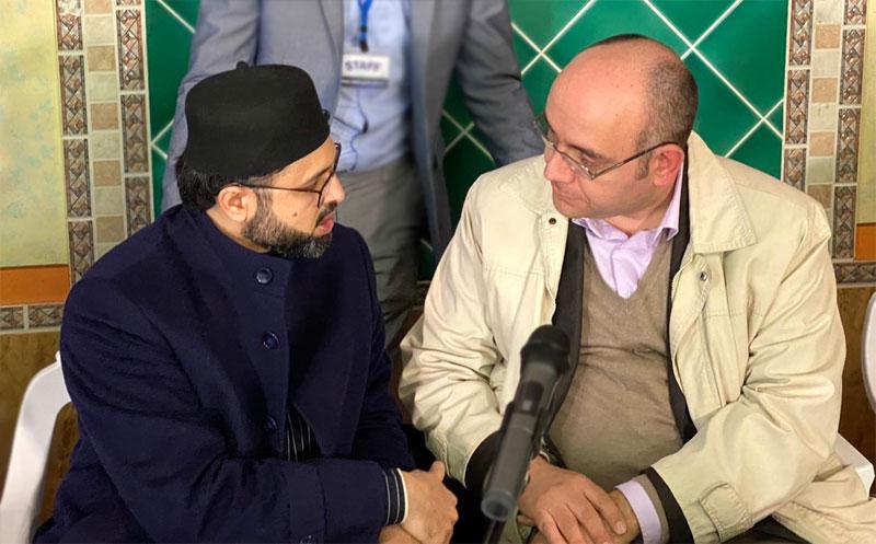 The city Councilman Mr. Maio Maurizio calls on Dr. Hassan Mohi-ud-Din Qadri