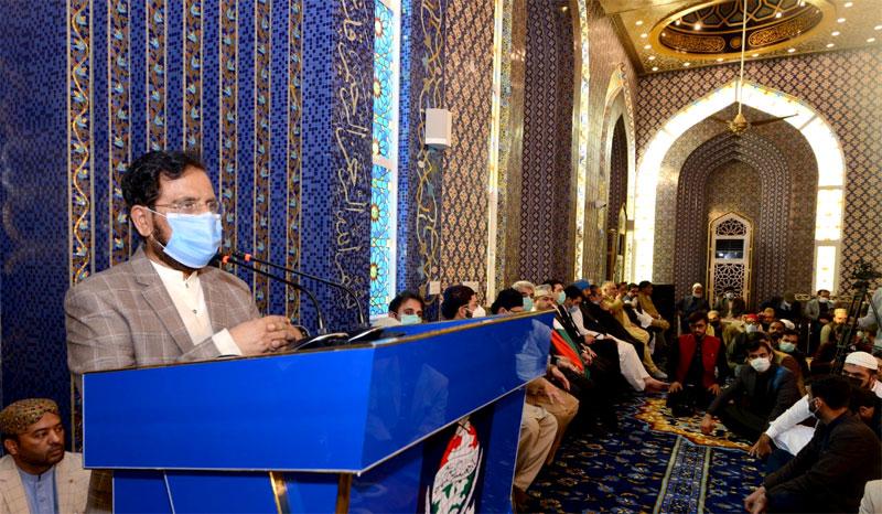 Irshad Ahmad  Arif addressing ceremony of Shaykh-ul-Islam mosque