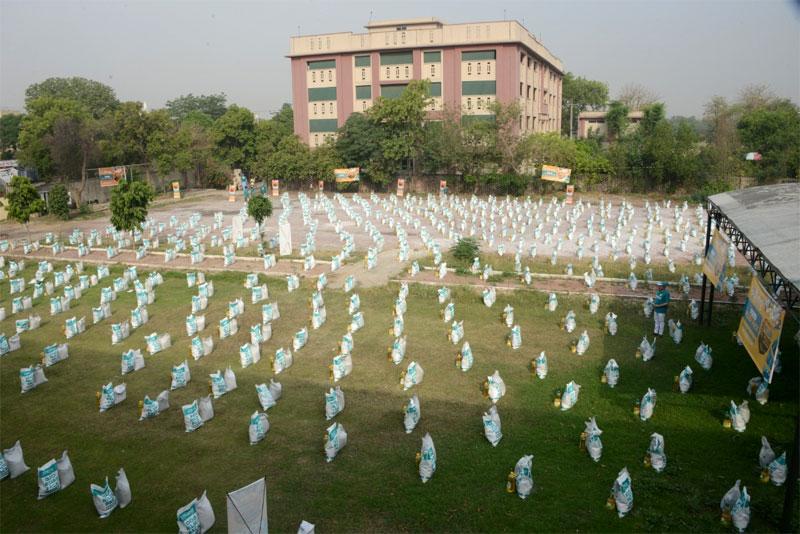 Rations Distribution by Minhaj Welfare Foundation