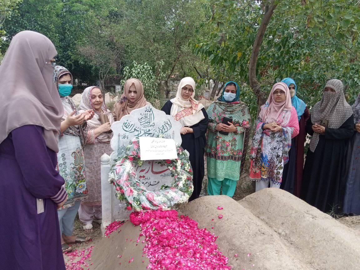 MWL delegation visits graves of Shaheed Tanzila Amjad & Shazia Murtaza