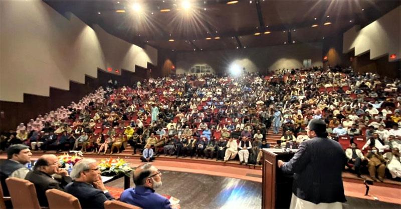Dr Hussain Qadri addresses Wasif Ali Wasif Seminar