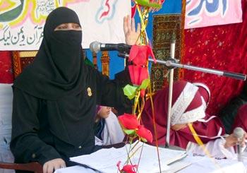 منہاج القرآن ویمن لیگ پنڈدادن خان کے زیراہتمام سالانہ محفل میلاد