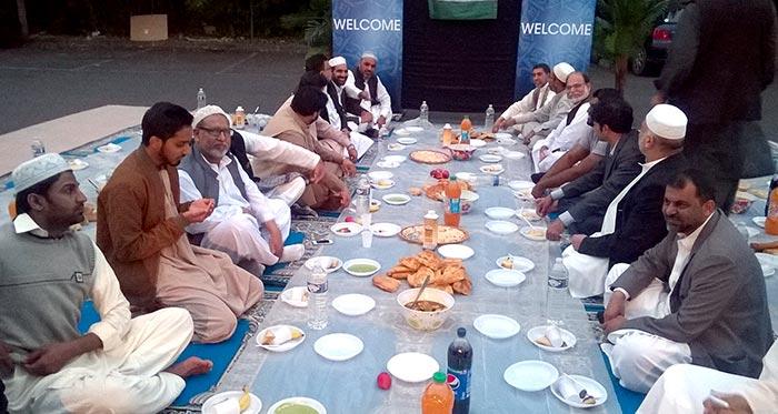 Iftar Dinner from Chaudhry Razzaq Ahmed by MQI Paris