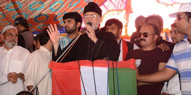 Dr Qadri visit flood victims