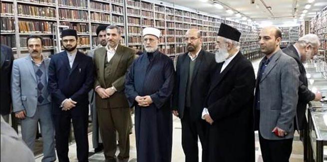 Dr Tahir-ul-Qadri visits one of the ancient libraries of Iran