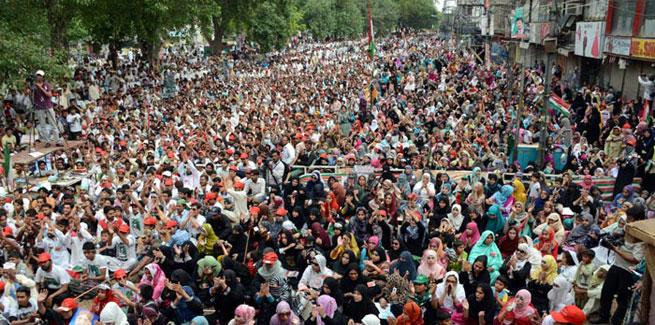 الاعتصام السلمي للحركة الشعبية الباكستانية ضد نظام الانتخاب الفاسد في باكستان