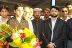 صاحبزادہ حسن محی الدین قادری اور ڈاکٹر رحیق عباسی کا بارسلونا ائیر پورٹ پر استقبال