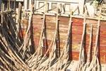 مینارۃ السلام کے رہائشی بلاک کے تہہ خانہ کے لینٹر کی تعمیر