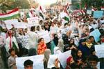 کراچی، توہین آمیز خاکوں کی اشاعت کے خلاف مظاہرہ