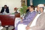ناظم یوسی 44 لاہور کی وفد کے ساتھ تحریک منہاج القرآن کے مرکزی سیکرٹریٹ آمد
