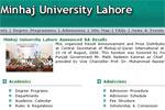 منہاج یونیورسٹی کی نئی ویب سائٹ کا افتتاح