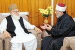 امیر جماعت اسلامی قاضی حسین احمد کی ڈاکٹر محمد طاہرالقادری سے ملاقات