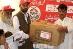مؤسسة المنهاج الخيرية تقوم بإقامة 'قرية المنهاج للخيم' لمساعدة نازحي وادي سوات في مدينة 'مردان' في باكستان