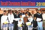 منہاج ایجوکیشن بورڈ کے تحت منعقدہ سالانہ امتحان 2010ء کے رزلٹ کا اعلان