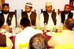 صاحبزادہ حسن محی الدین قادری کے اعزاز میں عشائیہ اور پریس کانفرنس