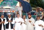 منہاج ویلفیئر فاؤنڈیشن کی جانب سے امدادی سامان کے ٹرکوں کی روانگی