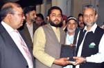 ناظم تحریک منہاج القرآن سیالکوٹ کی آزاد کشمیر کے وزیراعظم سردار عتیق احمد خان سے ملاقات