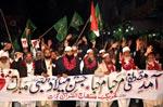 Milad March organized by MQI Gujrat