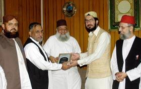 سیکرٹری جنرل اصلاحی جماعت پاکستان صاحبزادہ پیر سلطان احمد علی کا مرکزی سیکرٹریٹ کا دورہ