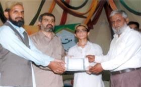 Student of Tahfeez-ul-Quran Institute makes its alma mater proud