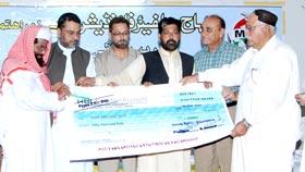 بلوچستان میں متاثرین سیلاب کو امدادی چیکس اور گھروں کی چابیوں کی تقسیم