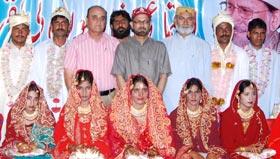 لیہ میں سیلاب سے متاثرہ دس جوڑوں کی اجتماعی شادیاں