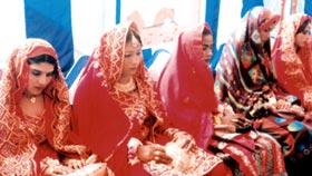 Marriage ceremony of ten flood affected couples under MWF Muzaffargarh
