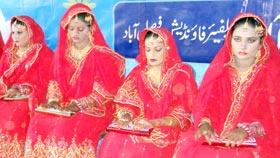 منہاج ویلفیئر فاؤنڈیشن فیصل آباد کے زیراہتمام 25 جوڑوں کی اجتماعی شادیاں