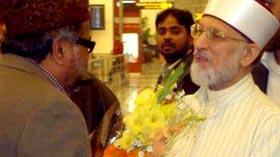 شیخ الاسلام کا دہلی ائیر پورٹ پر شاندار استقبال
